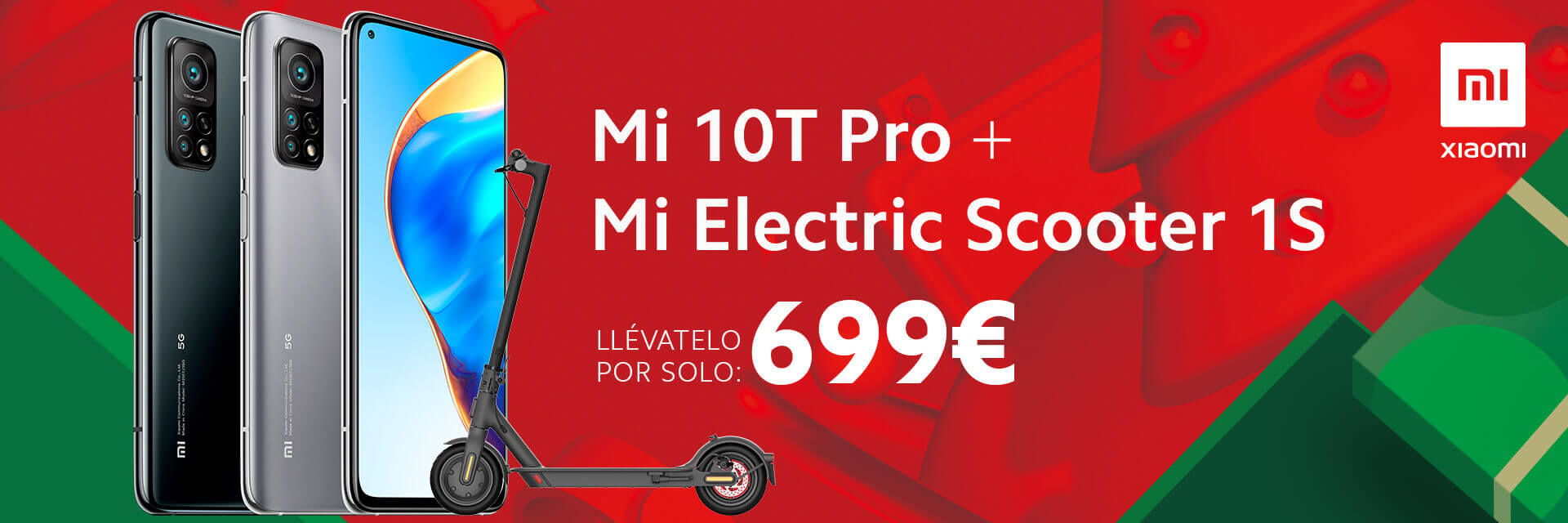 Smartphone Xiaomi Mi 10T Pro + Mi Electric Scooter 1S